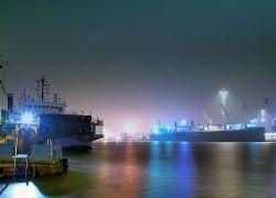 Port w Świnoujściu na zdjęciach Wiesława Mileńki
