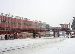 Zima w Terminalu Promowym w Świnoujściu na zdjęciach Wiesława Mileńki