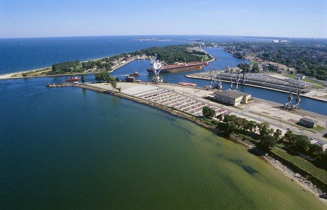 Widok z lotu ptaka na stary port gdański (materiały prasowe)