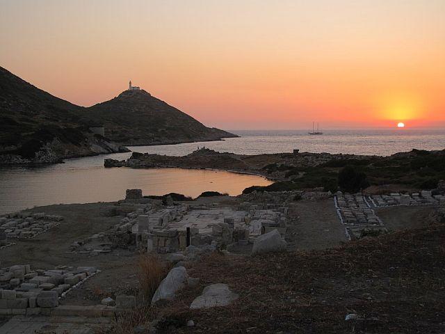 Zachód słońca nad Knidos