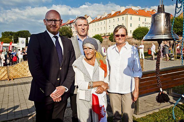 od lewej Marek Świderski, Stanisław Kuryłło, Maria Towiańska-Michalska, Lidia Epp