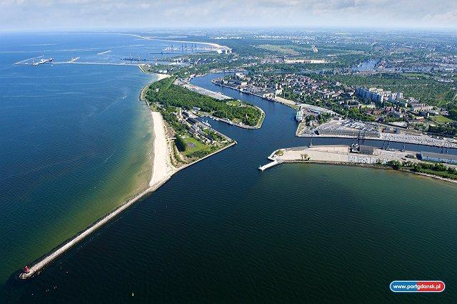 Port gdański z lotu ptaka